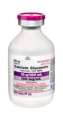 Calcium Gluconate Injection, USP 10%