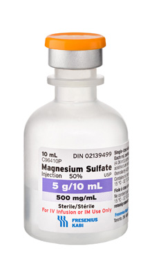 Magnesium sulfate solution