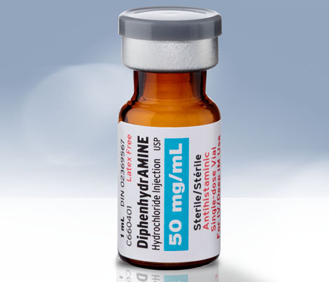 DiphénhydrAMINE (chlorhydrate) injectable