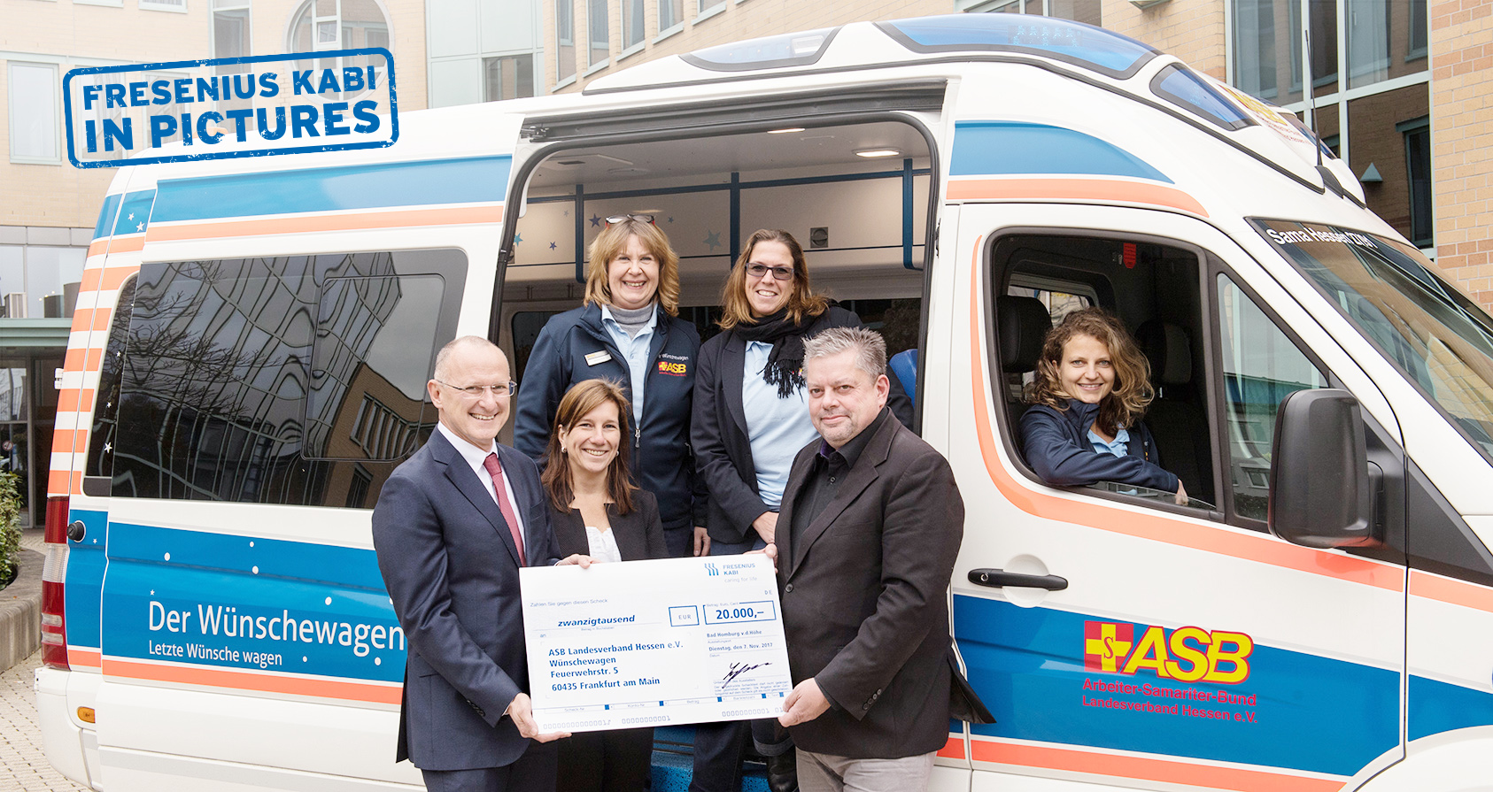 "Fresenius Kabi Germany supports the ""wish van"" project with Christmas donation"
