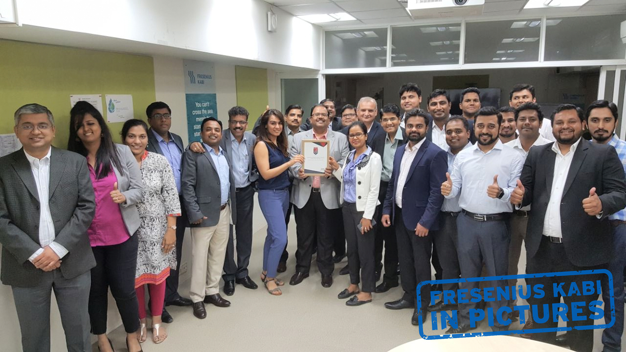 Fresenius Kabi India is certified as one of the Top 100 Great Places to Work in 2018