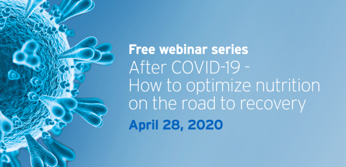 Second issue of our webinar series about COVID-19 and implications on nutrition coming up on April 28