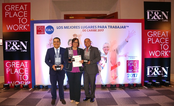 "Award as ""Great Place to Work"" in the Dominican Republic"